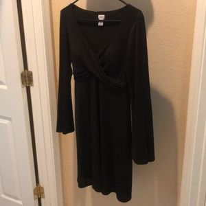 Cache Black dress with bell long sleeves